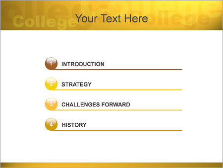 Шаблон для презентации Студенты колледжа - Третий слайд