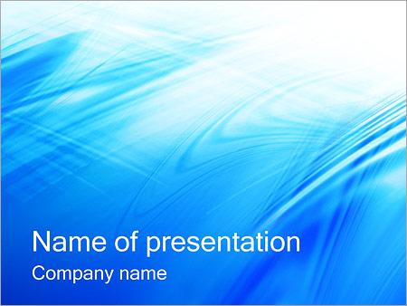 Шаблон презентации Голубая поверхность - Титульный слайд
