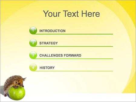 Шаблон для презентации Ежик и яблоки - Третий слайд