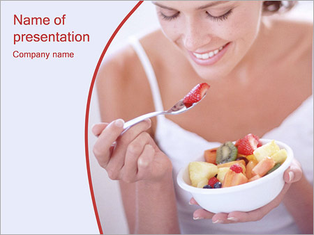 Шаблон презентации Фруктовая диета - Титульный слайд