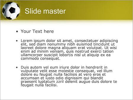 Шаблон PowerPoint Футбольный мяч в сетке - Второй слайд