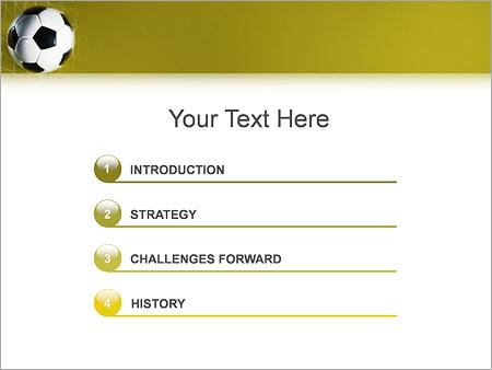 Шаблон для презентации Футбольный мяч в сетке - Третий слайд
