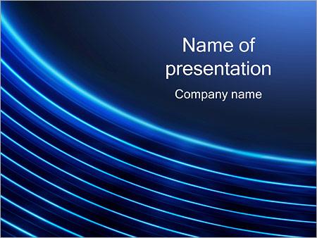 Шаблон презентации Круговые волны - Титульный слайд