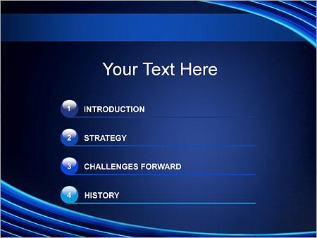 Шаблон для презентации Круговые волны - Третий слайд