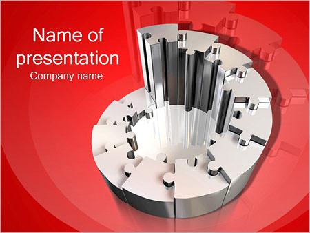 Шаблон презентации Спиральная лестница из паззлов - Титульный слайд