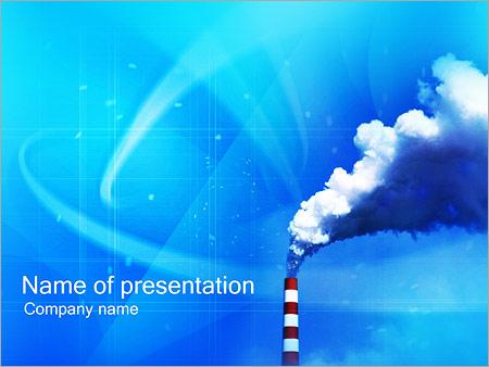 Шаблон презентации Труба завода - Титульный слайд