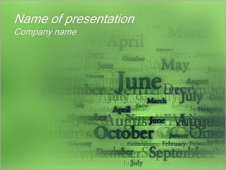 Шаблон презентации Названия месяцев - Титульный слайд