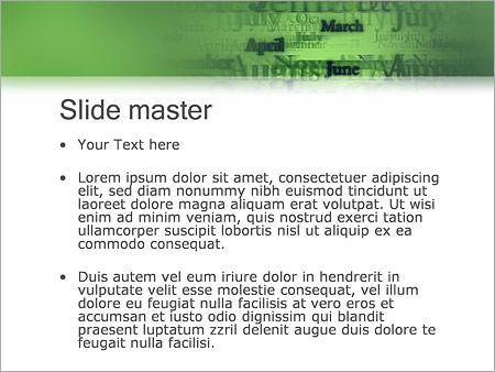 Шаблон PowerPoint Названия месяцев - Второй слайд