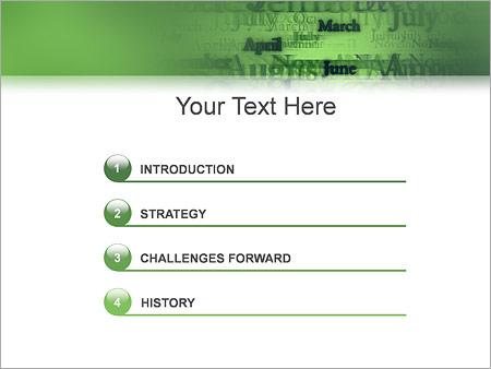 Шаблон для презентации Названия месяцев - Третий слайд