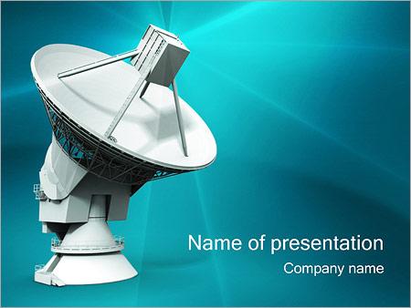 Шаблон презентации Спутниковая тарелка - Титульный слайд