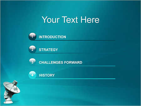 Шаблон для презентации Спутниковая тарелка - Третий слайд