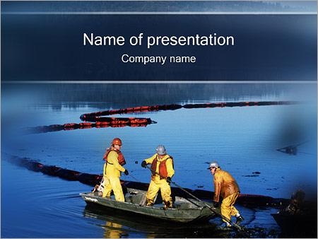 Шаблон презентации Загрязнение воды - Титульный слайд