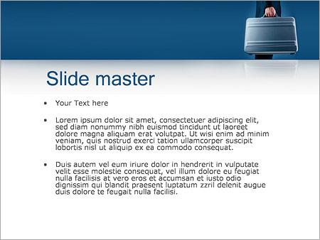 Шаблон PowerPoint Деловой человек - Второй слайд