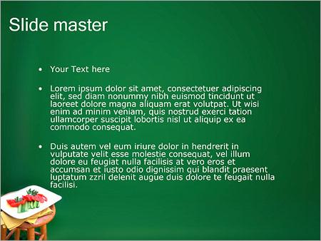 Шаблон PowerPoint Нарезанные овощи на тарелке - Второй слайд