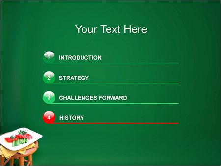 Шаблон для презентации Нарезанные овощи на тарелке - Третий слайд