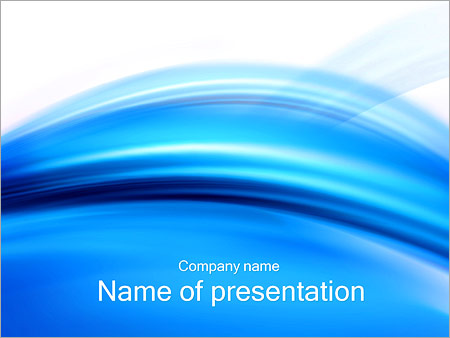 Шаблон презентации Голубой абстрактный ветер - Титульный слайд
