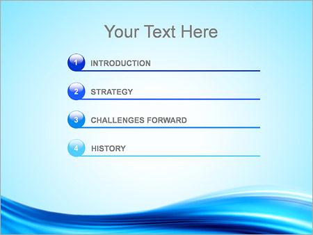 Шаблон для презентации Голубой абстрактный ветер - Третий слайд