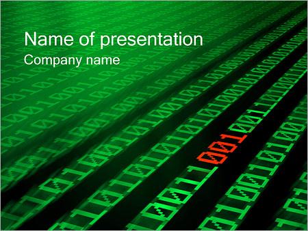 Шаблон презентации Двоичный код - Титульный слайд