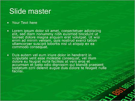 Шаблон PowerPoint Двоичный код - Второй слайд