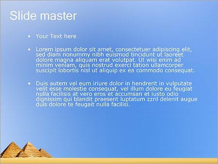 Шаблон PowerPoint Египетские пирамиды - Второй слайд