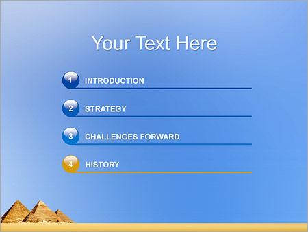 Шаблон для презентации Египетские пирамиды - Третий слайд