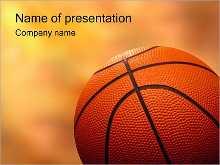 Шаблон презентации Баскетбольный мяч - Титульный слайд