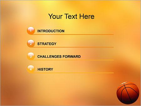 Шаблон для презентации Баскетбольный мяч - Третий слайд