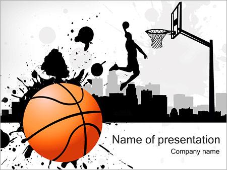 Шаблон презентации Баскетбол - Титульный слайд