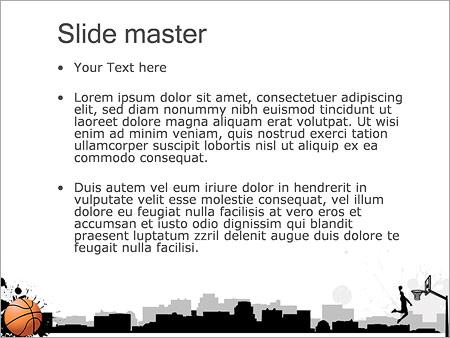 Шаблон PowerPoint Баскетбол - Второй слайд