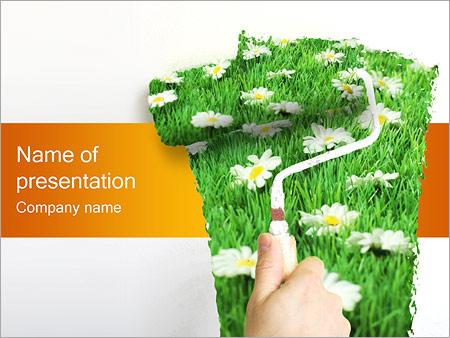 Шаблон презентации Весна - Титульный слайд