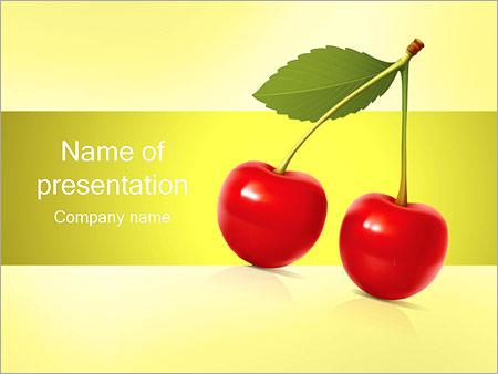 Шаблон презентации Вишня - Титульный слайд