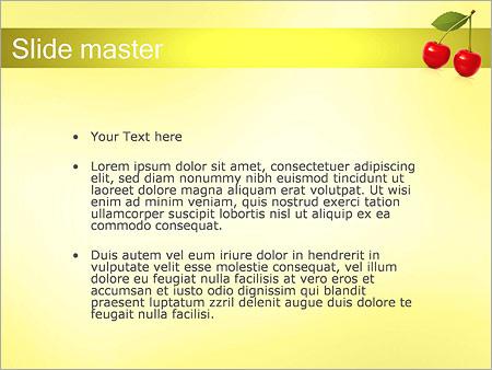 Шаблон PowerPoint Вишня - Второй слайд