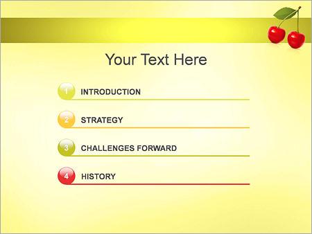 Шаблон для презентации Вишня - Третий слайд