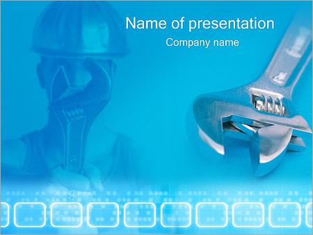 Шаблон презентации Мастер и гаечный ключ - Титульный слайд