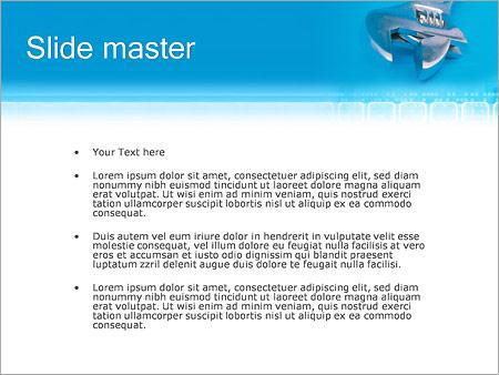 Шаблон PowerPoint Мастер и гаечный ключ - Второй слайд