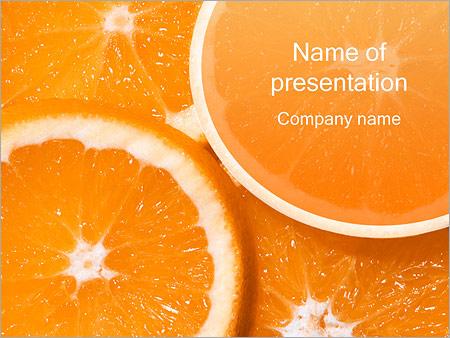 Шаблон презентации Нарезанные апельсины - Титульный слайд