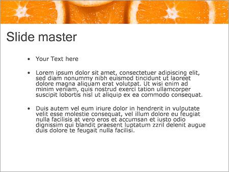 Шаблон PowerPoint Нарезанные апельсины - Второй слайд