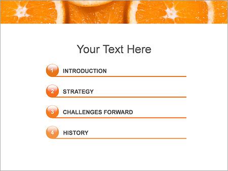 Шаблон для презентации Нарезанные апельсины - Третий слайд