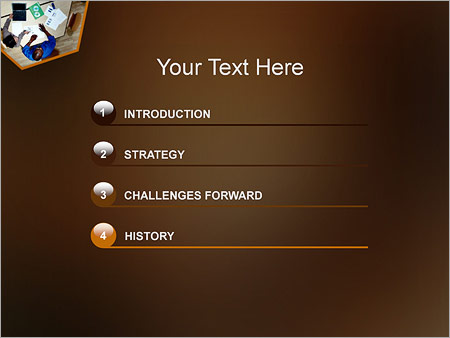 Шаблон для презентации Стол бизнес переговоров - Третий слайд
