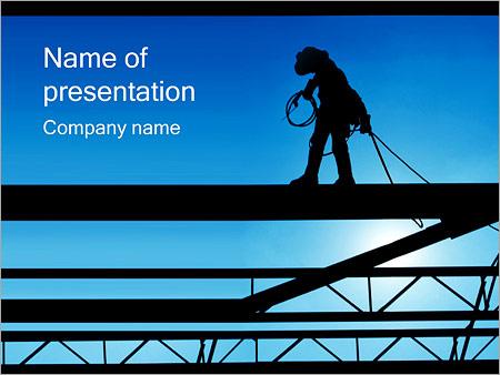 Шаблон презентации Строитель высотник - Титульный слайд