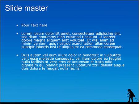 Шаблон PowerPoint Строитель высотник - Второй слайд