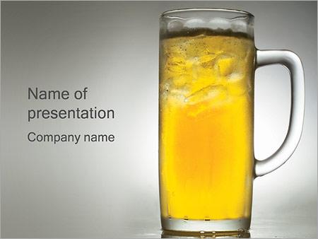 Шаблон презентации Стакан с пивом - Титульный слайд