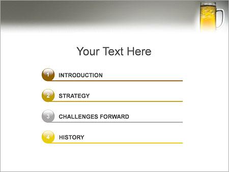 Шаблон для презентации Стакан с пивом - Третий слайд