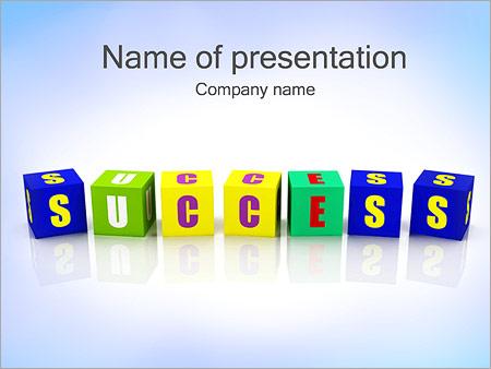 Шаблон презентации Кубики успех - Титульный слайд