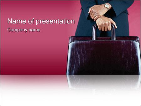 Шаблон презентации Командировка - Титульный слайд