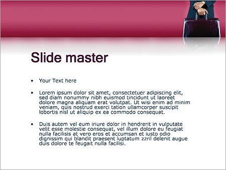 Шаблон PowerPoint Командировка - Второй слайд