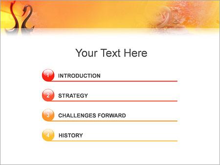 Шаблон для презентации Влюбленные лебеди - Третий слайд