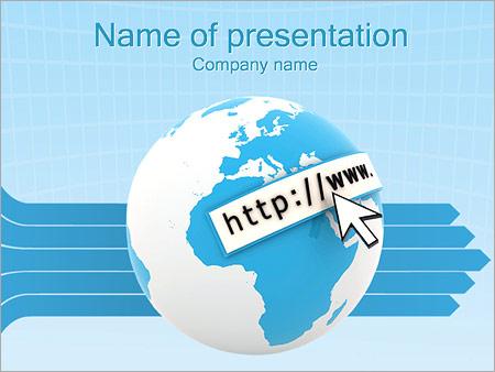 Шаблон презентации Интернет сайты - Титульный слайд