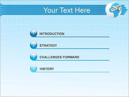 Шаблон для презентации Интернет сайты - Третий слайд