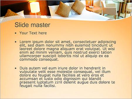 Шаблон PowerPoint Номер в гостинице - Второй слайд